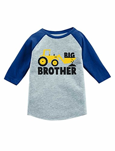 c4960dec Tees – Big Brother Gift for Tractor Loving Boy 3/4 Sleeve Baseball Jersey Toddler  Shirt 2T Blue Offers