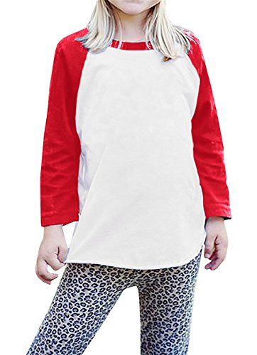 4f82df678 Tees – Boys Raglan Baseball Tee Girls Long Sleeve Jersey T Shirts Unisex  Baby Kid Tops Red